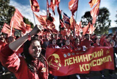 На XIX Всемирном фестивале молодёжи и студентов прошёл антиимпериалистический марш левой и прогрессивной молодёжи мира. Колонну молодёжных организаций возглавил Ленинский Комсомол ФОТОРЕПОРТАЖ..