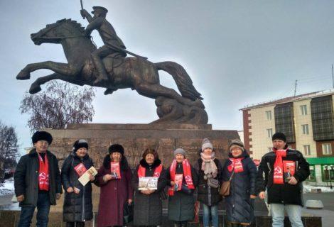 Агитационные будни Туврескома КПРФ и Ленинского комсомола.