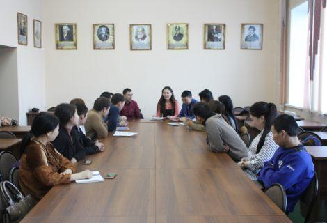 Коммунисты и комсомольцы Кызыла провели встречу со студентами Тувинского государственного университета