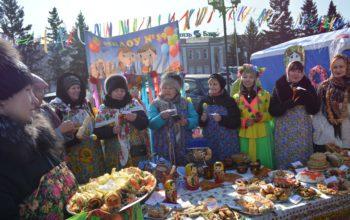 Здравствуй, масленица! Народные гуляния в Кызыле.