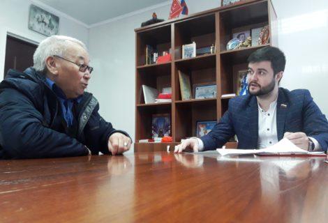 Рабочая встреча с секретарями партии.